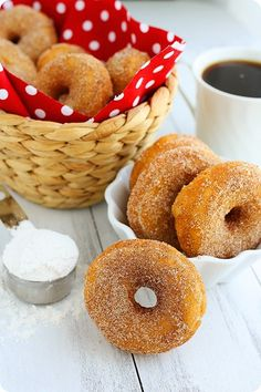 Baked Cinnamon Sugar Doughnuts from the Comfort of Cooking