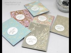 Stampin' Up! Demonstrator Pootles - Falling In Love Customer Thank You Notebooks