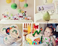 I'm a sucker for original party themes AND sweet details. This party has both!! Check out this super fabulous Very Hungry Caterpillar birt...