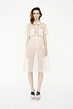 nude tones, from dress to body #dress #transparent