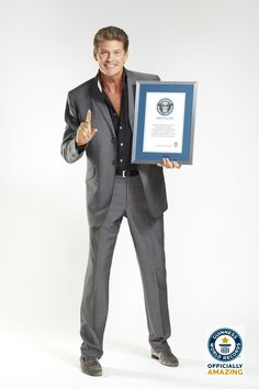 Most Watched Man on Television.  American actor David Hasselhoff has the distinction of being the most-watched man on television of all time. Having first come to public attention as Michael Knight in the popular US series Knight Rider he went on to star as LA County Lifeguard Mitch Buchannon in the series Baywatch, which at its 1996 peak had an estimated weekly audience of 1.1 billion viewers. http://blog.whsmith.co.uk/guinness-world-records-top-10-celeb-records/