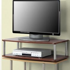 Convenience Concepts Designs2Go No Tools XL Two Tier Swivel, for TVs up to 32 inch by Convenience Concepts, Red