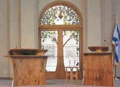 Synagogue Architecture, Sandblasted Glass, Glass Installation, Episcopal Church, Stained Glass Designs, Jewish Art, Menorah, Acacia Wood, Stained Glass Windows