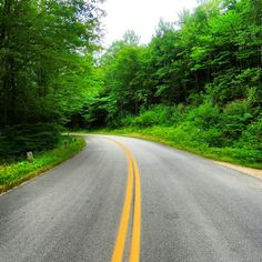 Road in village called chocorua in the USA