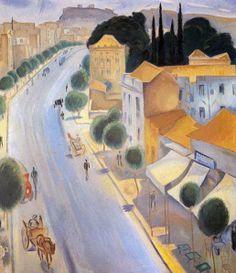 """Spyros Vassiliou (Greek, Patission Street, Athens, c. Oil on canvas, 89 x 79 cm. Painter Artist, Artist Painting, Artist Art, Greece Painting, Z Arts, 10 Picture, Greek Art, Classical Art, Conceptual Art"