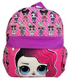 "LOL Surprise Small 12/"" White All-Over Print Girls/' School Backpack-TODDLER"