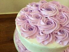 Lilac Rossette Cake