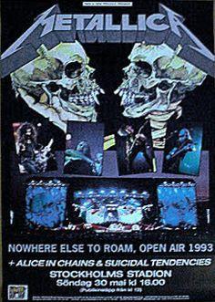 METALLICA   30 maj, 1993   Stockholm, Stadion   Support: Alice In Chains + Suicidal Tendencies  