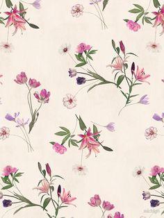 Scattered Floral on Cream von micklyn