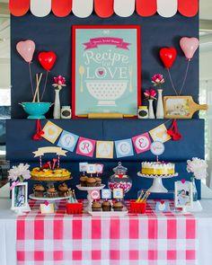 Retro Kitchen Bridal Shower with Lots of Really Cute Ideas via Kara's Party Ideas | KarasPartyIdeas.com #RetroBridalShower #RetroParty #Part...