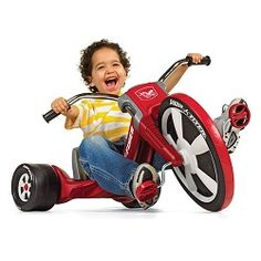 Take a ride on the Big Flyer®, the performance trike that's designed to be your child's favorite new ride! The Big Flyer® is a chopper-style tricycle that features a 16″ front wheel with performance grip tread to hug the road.