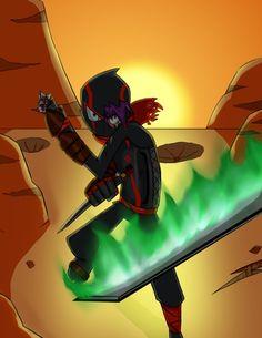 Ninja armor by RisingDiablo on DeviantArt Disney Cartoon Movies, Disney Xd, 90s Cartoons, Disney Cartoons, Randi Conijan Ninja Total, Ninja Armor, Ninja Suit, Randy Cunningham Ninja Total, Superhero Design