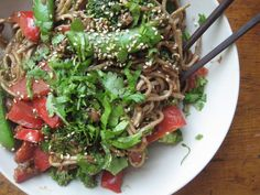 The Coup+Meet tofu stir fry with rice vermicelli noodles.