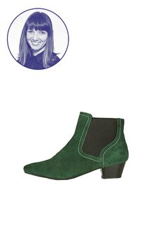 "The Bottle-Green Booties ""I invest in a pair of solid Chelsea boots every season — anything to keep me looking like I live in London in the '60s. I always buy basic black, but this season I'd like to go wild and splurge for an emerald green pair. I think Marianne Faithfull would approve."" — Naomi Nevitt, shopping and market director"