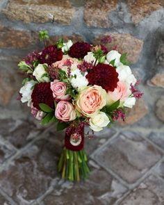 Hottest 7 Spring Wedding Flowers to Rock Your Big Day-burgundy and blush wedding. Hottest 7 Spring Wedding Flowers to Rock Your Big Day-burgundy and blush wedding colors, spring wedding flowers of roses, bridal bouquets, Blush Wedding Colors, Burgundy And Blush Wedding, Spring Wedding Flowers, Floral Wedding, Trendy Wedding, Burgundy Bouquet, Burgundy Flowers, Autumn Wedding, Blush Wedding Flowers