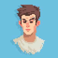 New #pixelart face for a (belated) new year. Durp durp~ (。☉౪ ⊙。)/