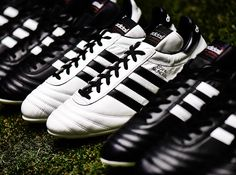 Released in the Copa Mundial is the best-selling boot in football history and has been worn by some of the all-time greats including Franz Beckenbauer, Michel Platini, Zico & Karl-Heinz Rummenigge. Soccer Gear, Soccer Boots, Football Boots, Soccer Cleats, Soccer Players, Retro Fashion, Mens Fashion, Classic White, Adidas Sneakers