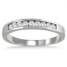 bf29824c607d Marquees Jewels 10K Gold 1 4ct TDW Channel-set Diamond Band Anillos De  Compromiso
