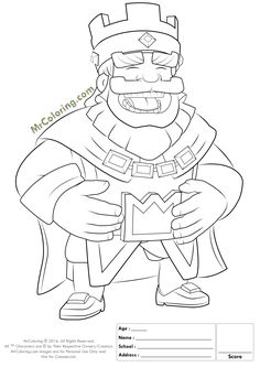 printable blue king clash royale online coloring pages 1