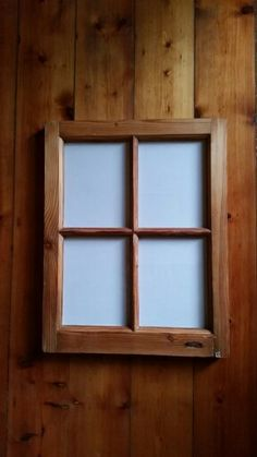 Oregon Pine 4 picture Frame made from cottage pain window frame