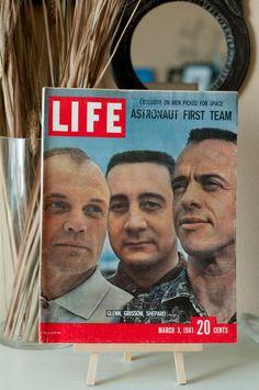 Vintage LIFE Magazine / 1961 LIFE / First Men in Space / John Glenn / Astronaut.
