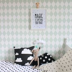 Mint with black and white | kids room decor