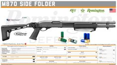 Remington Arms Company, LLC -  870 Side Folder Shotguns, Firearms, Military Brat, Tactical Shotgun, Hand To Hand Combat, Tactical Equipment, Custom Guns, Weapon Concept Art, Everything
