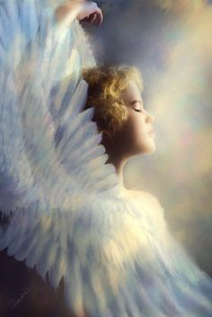 "Gloria by =Phatpuppyart  ""Every visible thing in this world is put in the charge of an Angel.""    ~Saint Augustine"