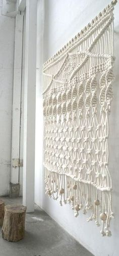 macrame curtains | macrame curtain - 70's influence