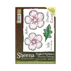 Sheena Douglass Perfect Partners Country Cottage A6 Unmounted Rubber Stamp - Classic Carnations