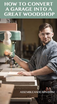 Useful tips to create your own wood shop in your garage. Get neat layout and designing ideas.