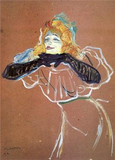 Henri de Toulouse-Lautrec - Yvette Guibert singing