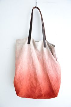 Red to White Ombre Bag