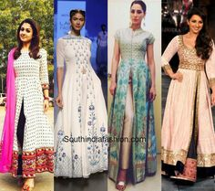 Incorporating the slit styles on your all time favorite anarkalis are one of the best options as you get to style them in many different ways.