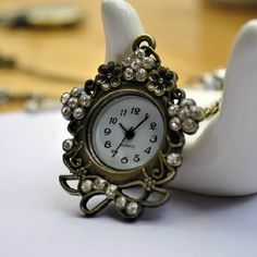 1pcs Large Size Rhinestone  Pocket Watch with free by ministore, $4.40
