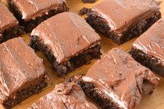 Chocolate Fudge Brownies with Chocolate Buttercream