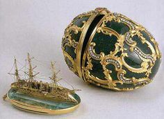 1891 - The 'Azov' Egg (Imperial yacht) offered by Alexander III to Maria Feodorovna