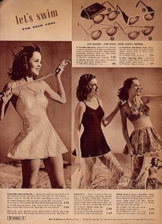 1942 = swimsuits...swim dresses