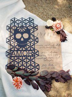 Dia de Los Muertos wedding menu | Wedding & Party Ideas | 100 Layer Cake
