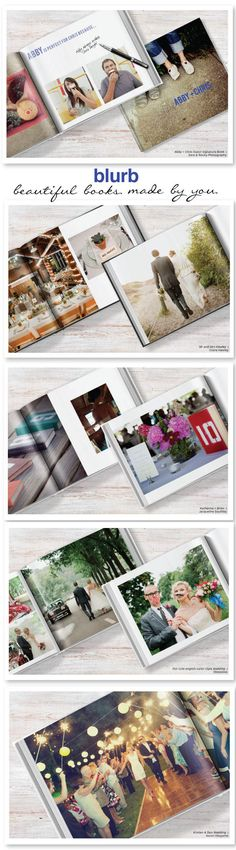 Make your own Wedding Book (or any other photo book) using Blurb Wedding Photo Books, Wedding Book, Diy Wedding, Wedding Things, Dream Wedding, Wedding Ideas, Wedding Album Cover, Wedding Album Design, Wedding Albums