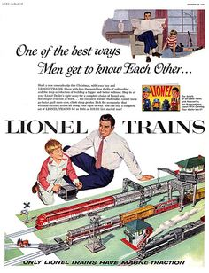 Ad for Lionel Trains