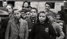 Jewish children in the Drancy internment camp north of Paris in December 1942. Between 1942 and 1944, 11,400 children were deported from France. Two hundred came back alive.