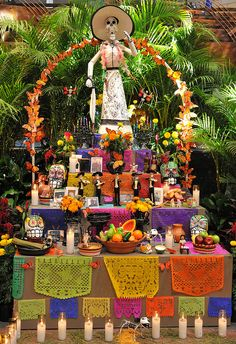 Muertos Ofrenda   A partial view of the impressive Dias de Muertos ofrenda at the Museum of the American Indian in Washington, DC