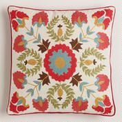 Red Suzani Embroidered Throw Pillow. World Market. For Bedroom