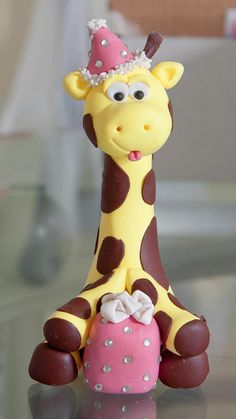 Goofy Little Giraffe Cake Topper. $15.00, via Etsy.