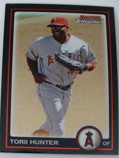 060ddcb77f5 Details about 2010 Bowman Chrome #116 Torii Hunter Los Angeles Angels  Baseball Card