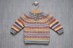 Color work baby pullover free pattern