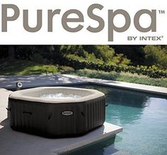 Intex Pure Spa Jet & Bubble Deluxe 6 Person Octagonal Inflatable Hot Tub