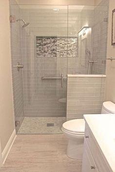 40 Modern Small Master Bathroom Renovation Ideas - Page 20 of 40 Master Bathroom Renovation, Small Master Bathroom, Bathroom Interior, Bathroom Remodel Master, Shower Remodel, Bathroom Remodel Shower, Bathroom Makeover, Bathroom Design Small, Small Remodel