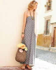 Habana Maxi Sundress (and the jewelry and the bag and the figure and the setting...)